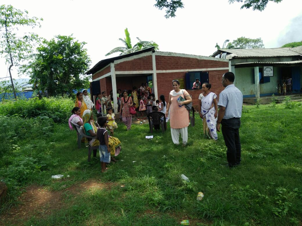 Distribution of snacks and clothing